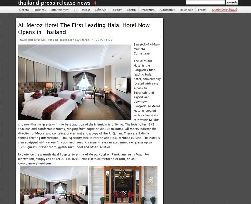 thailand4.com The First Leading Halal Hotel
